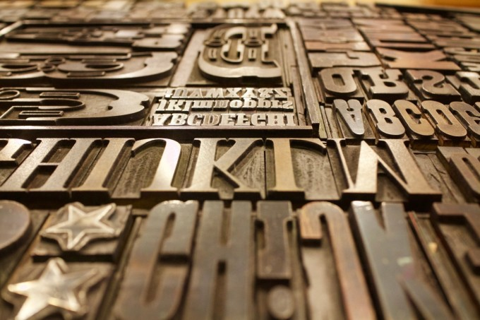 Printing plate letters | Featured image logo contest TEDx